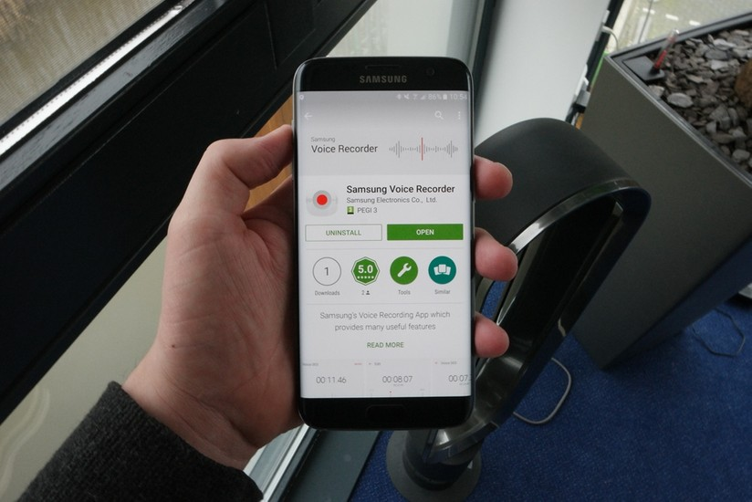 Samsung's voice recording app for the Galaxy S7 launched