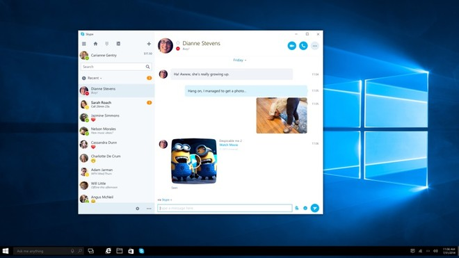 Skype Preview updated with unread conversation counter for Slow Ring
