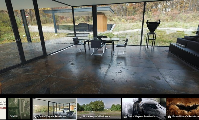 Want to see Batcave from Batman vs Superman film? Google Maps here