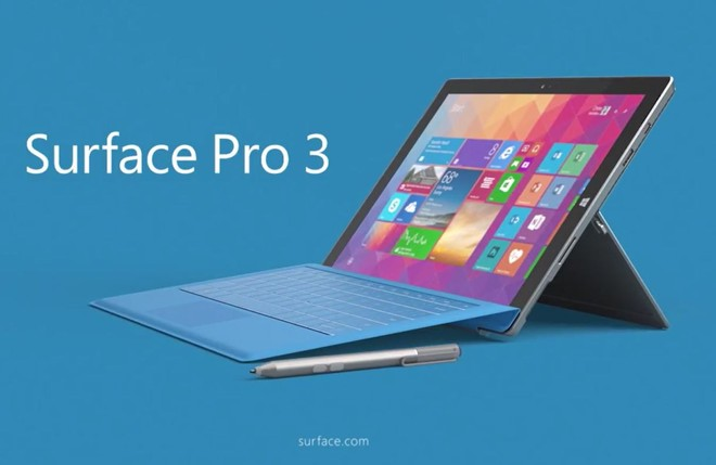 April firmware update available for Surface Pro 3 running Windows 10