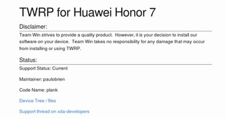 Amazon Kindle Fire HD (3rd Gen) and Huawei Honor 7 will get TWRP