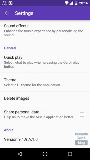 xperia music beta