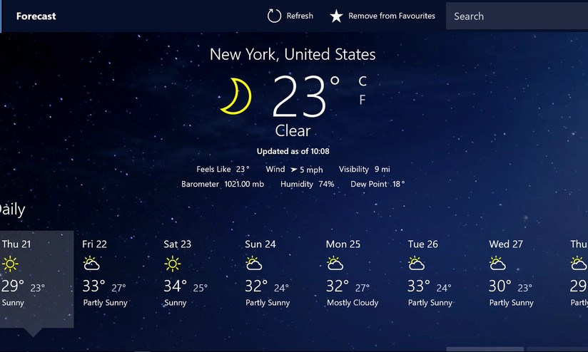 UWP MSN Weather app comes to Xbox One - Mobilescout com