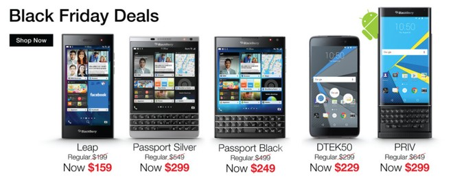 BlackBerry offers huge discount on Priv and more for US under Black