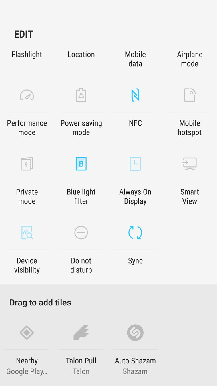 Now add third party app functions as quick toggles on latest