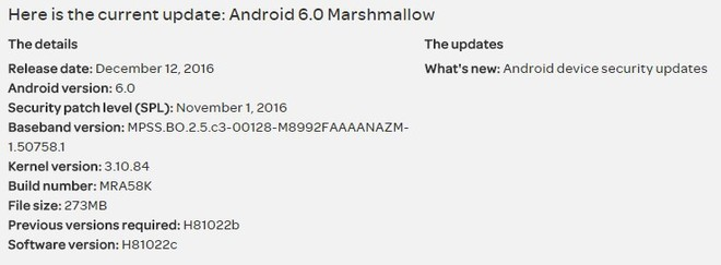 AT&T LG G4 and V10 variants are being updated with November