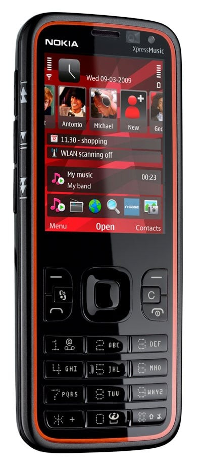The New Nokia 5630 XpressMusic Phone Is A Mid Rangeslim Music That Features Rare Voice Recognition System Will Play Artists Songs And Other