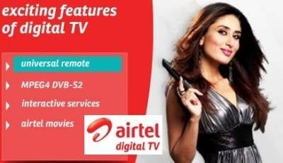 Airtel Digital TV - Packages,Tariff Plans Airtel DTH service