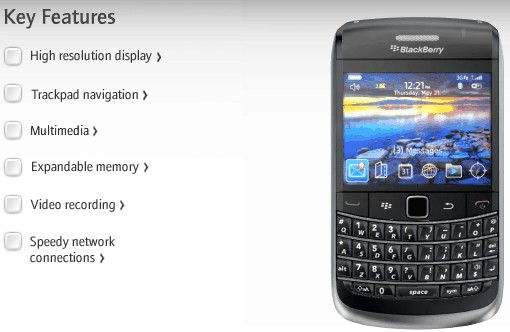 BlackBerry Bold 9700 - New BlackBerry mobile with trackpad