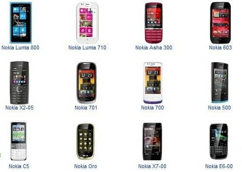 Nokia 3G Mobile Price List India