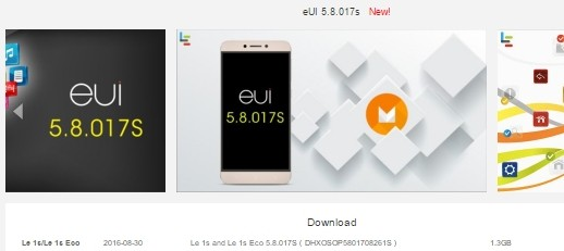 LeEco Le 1s and Le 1s Eco Android MarshMallow 6 0 Update