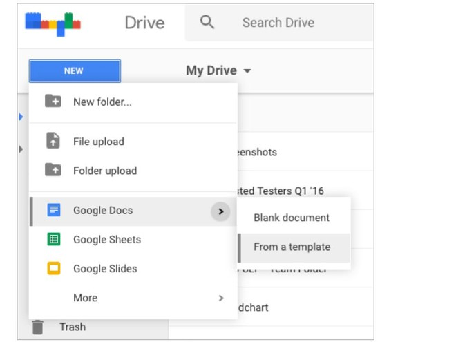 This New Button In Google Drive Lets You Create Files Directly - Start a new google doc