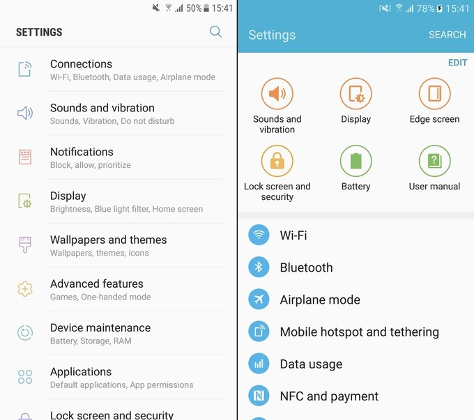 See what has changed in Galaxy S7 after the Nougat update