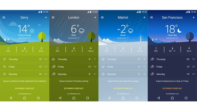 Enjoy the new Clock and Weather widget in the latest Xperia Weather