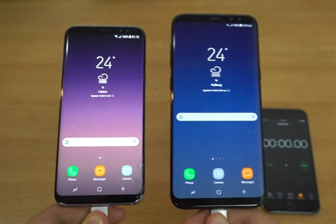 samsung galaxy s8 vs s8 plus battery drain test. Black Bedroom Furniture Sets. Home Design Ideas