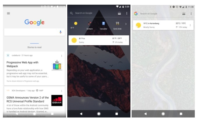 Google Feed gets a translucent look