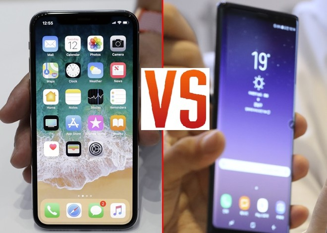 iphone x vs note 8 video test