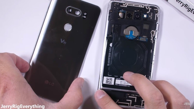 LG V30 teardown shows camera hardware and other components