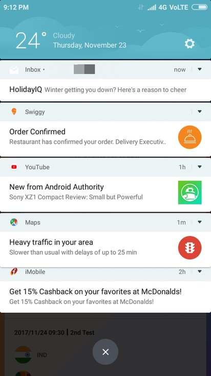 MIUI 9 brings quick replies and bundled notifications to