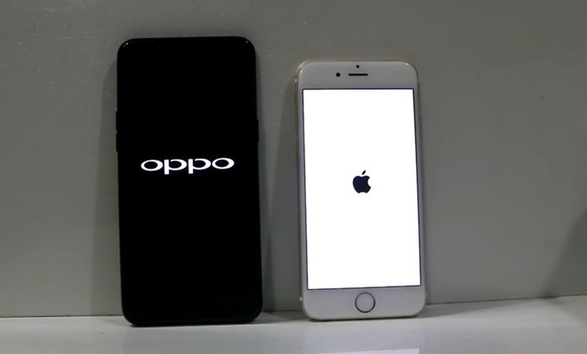 Oppo A83 vs Apple iPhone 6 speed test comparison