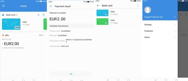 Huawei Wallet app shows up on the Play Store{newsTitoloPageAppend