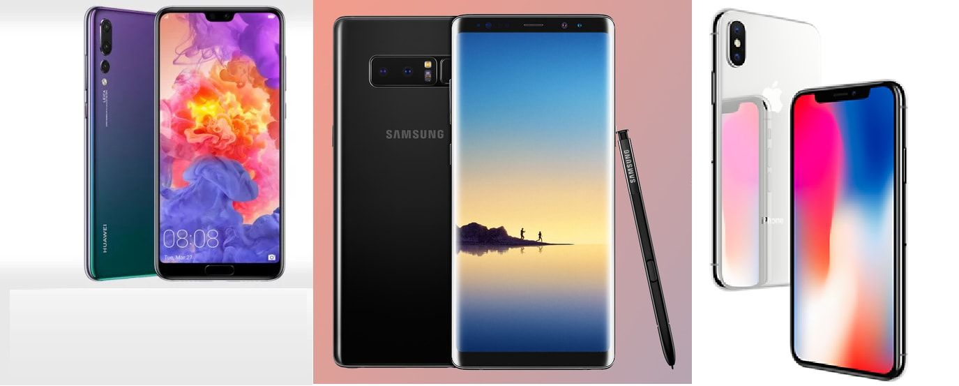 Huawei P20 Pro vs Galaxy Note 8 vs Apple iPhone X: How are they different?