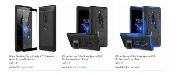 ffb2e281a2 Sony Xperia XZ3 leaks in Olixar-branded cases revealing design ...