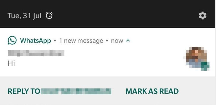 WhatsApp 'Mark as read' button in notifications rolling out