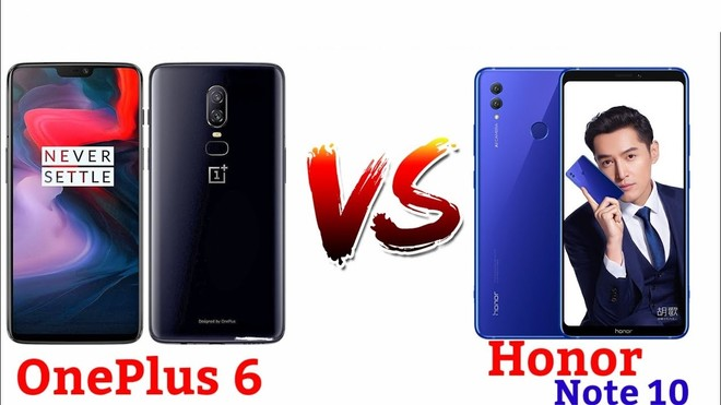 Honor Note 10 vs OnePlus 6: Confrontation to rule the budget