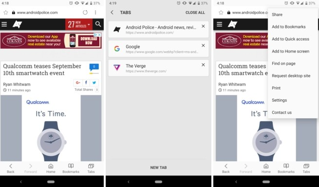 Samsung Internet Go app leak shows all good features missing