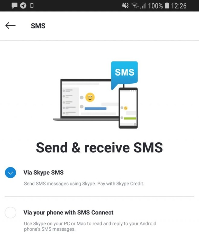 Skype Preview app gets call recording and SMS support via an update