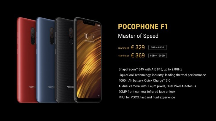 Xiaomi Pocophone F1 global availability and price details