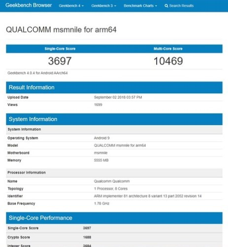 Qualcomm Snapdragon 855 seen on Geekbench far outperforming