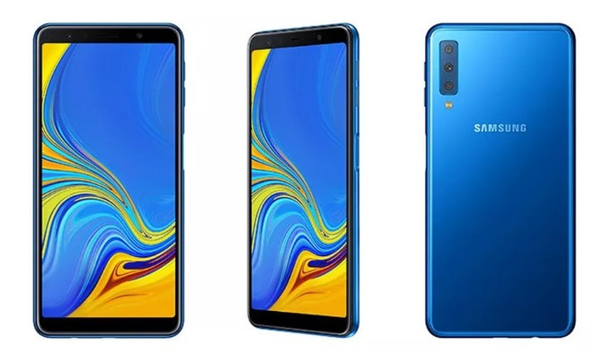 Samsung Has Now Officially Taken Wraps Off The Galaxy A7 Which Is Its First Triple Rear Camera Smartphone In Fact It Only Second