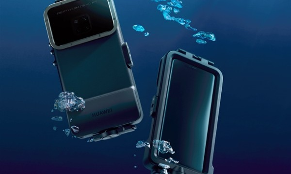 Huawei Mate 20 Pro water-proof case allows water submersion