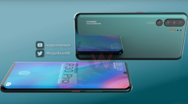 Huawei P30 Pro concept render video showcases waterdrop notch, quad