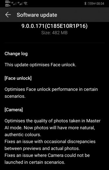 Huawei Mate 20 Pro gets Face Unlock improvements and