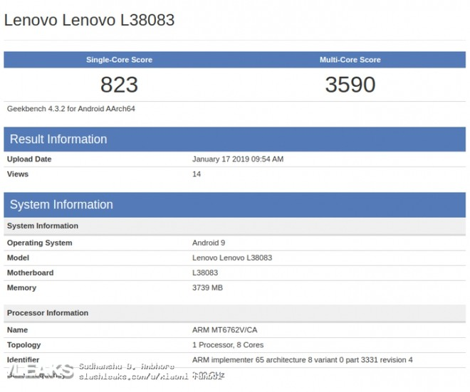 Lenovo phone powered by MediaTek P22 spotted on GeekBench