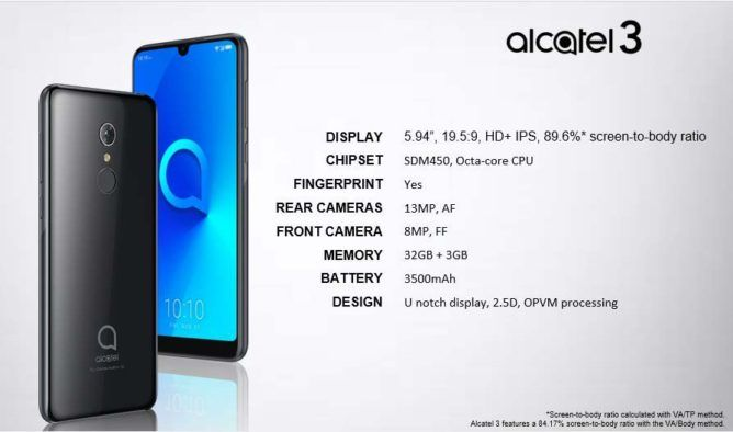 Alcatel's complete smartphone lineup for MWC 2019 leaked