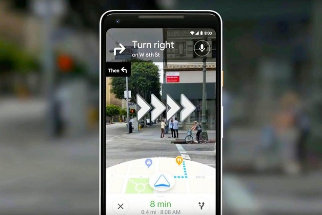 Google Maps Live View AR walking directions rolling out to Android